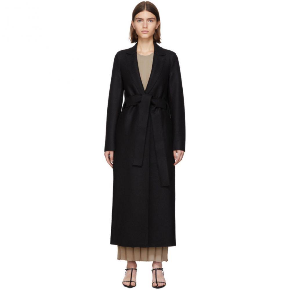 ハリスワーフロンドン Harris Wharf London レディース コート アウター【black pressed wool belted coat】