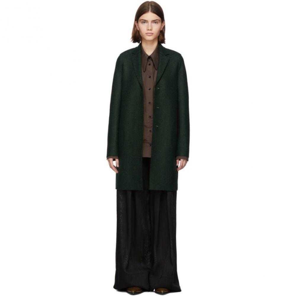 ハリスワーフロンドン Harris Wharf London レディース コート アウター【green pressed wool cocoon coat】