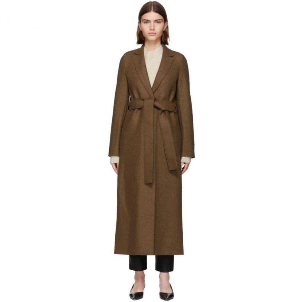 ハリスワーフロンドン Harris Wharf London レディース コート アウター【brown pressed wool belted coat】