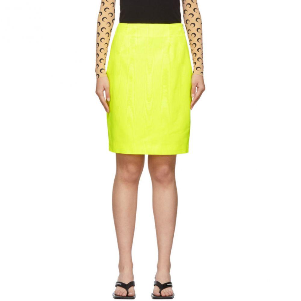 マリーン セル Marine Serre レディース スカート 【yellow fitted skirt】