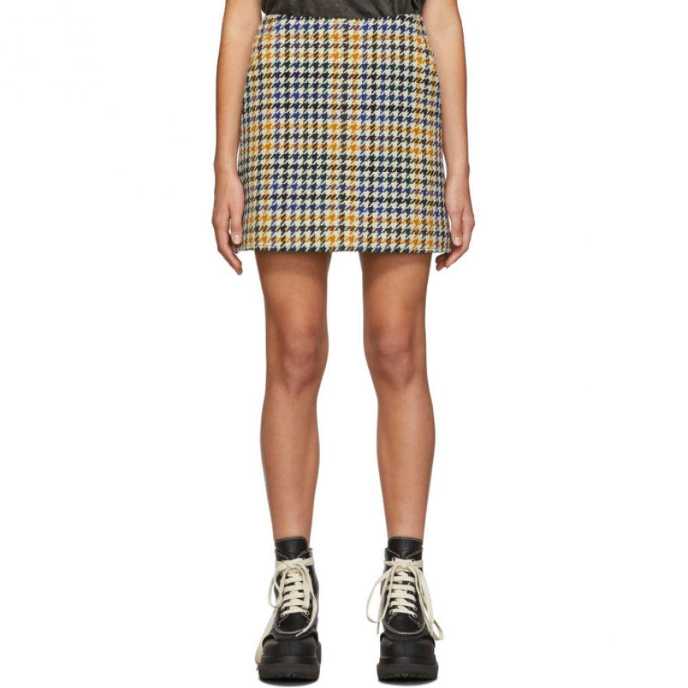 アレキサンダー マックイーン McQ Alexander McQueen レディース ミニスカート スカート【multicolor check topstitch miniskirt】