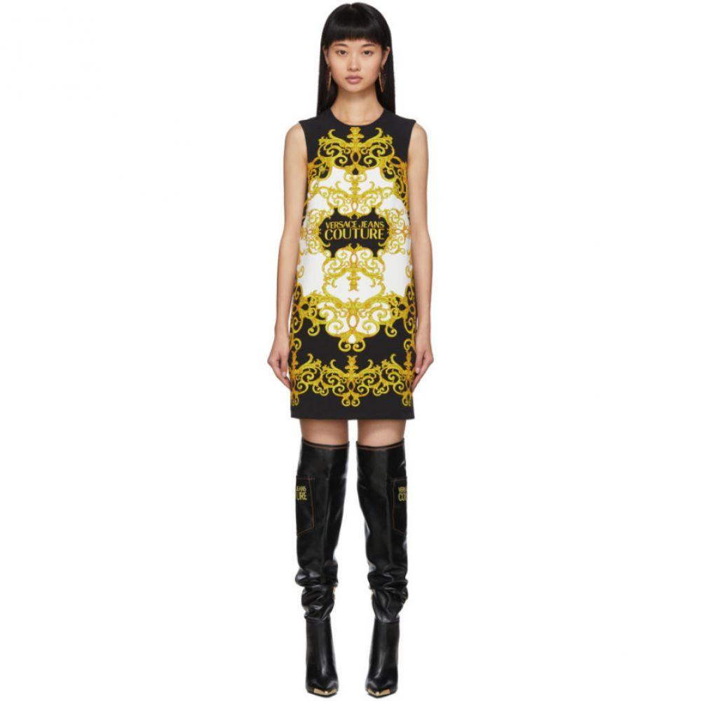 ヴェルサーチ Versace Jeans Couture レディース ワンピース ワンピース・ドレス【black a-line dress】