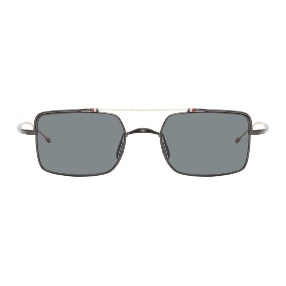 トム ブラウン Thom Browne メンズ メガネ・サングラス 【gunmetal & gold tb-909 sunglasses】