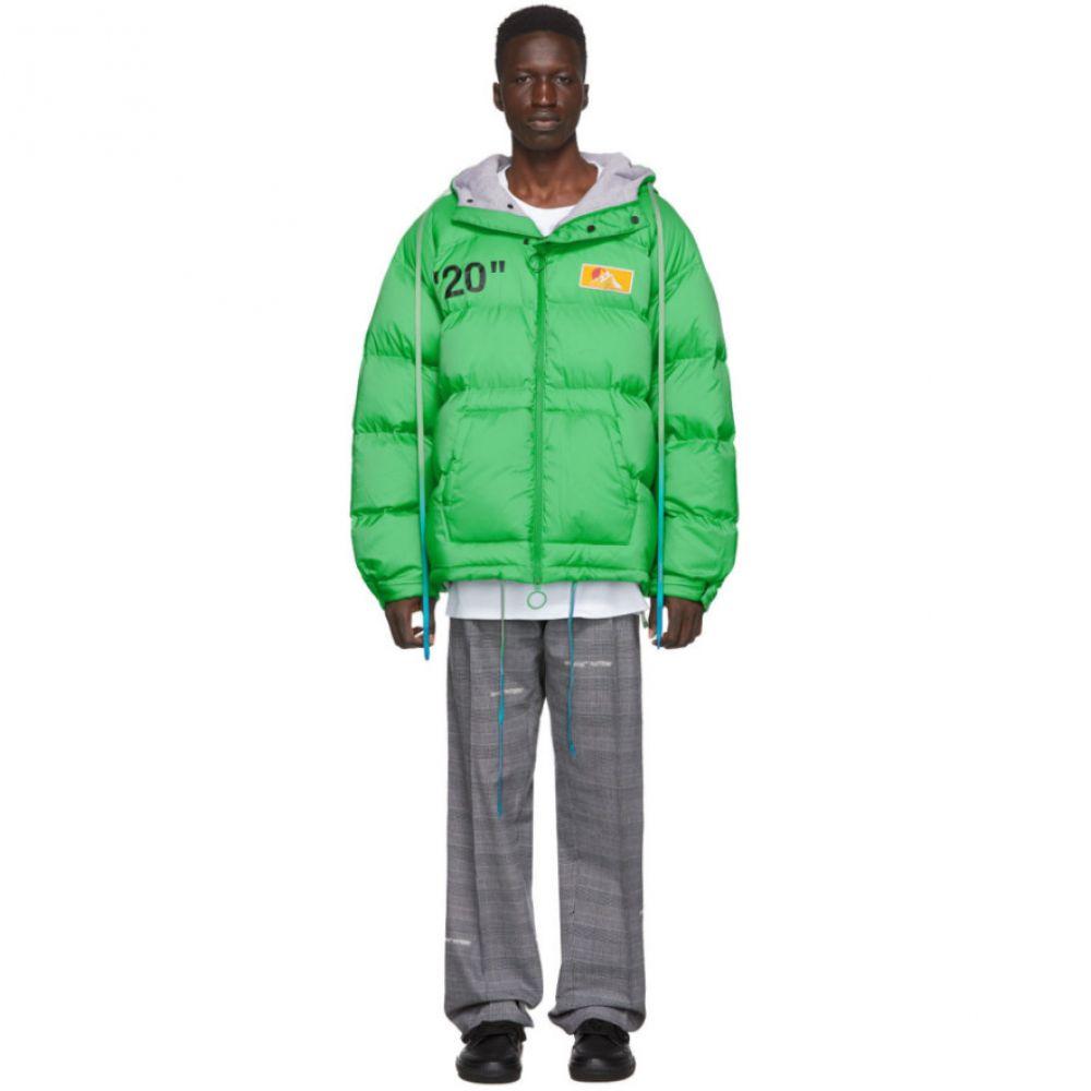 オフホワイト Off-White メンズ ダウン・中綿ジャケット アウター【green down zipped puffer jacket】