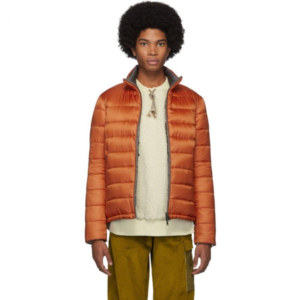 ヘルノ Herno メンズ ダウン・中綿ジャケット アウター【reversible orange ultralight down jacket】