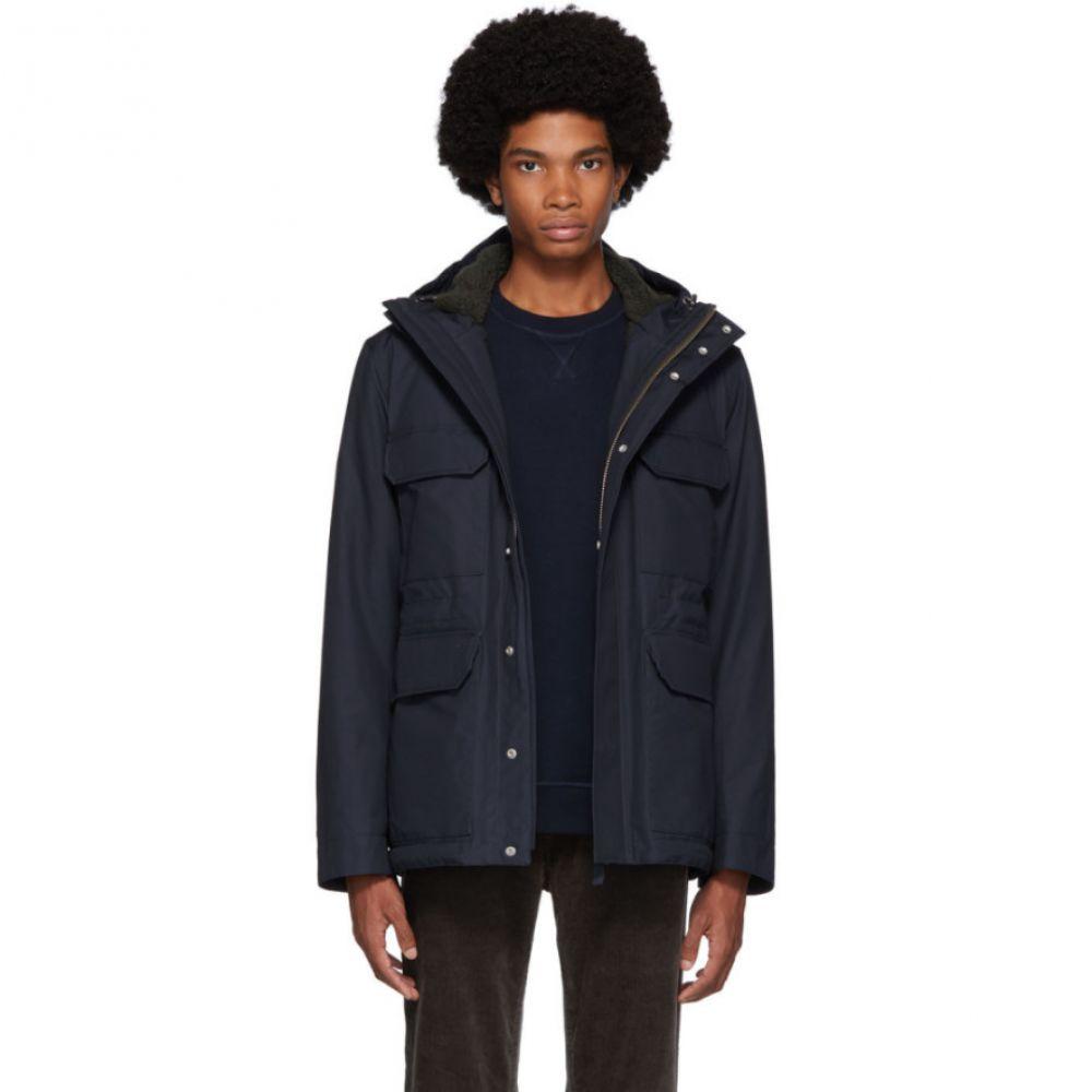 ノースプロジェクト Norse Projects メンズ ジャケット アウター【navy cotton nunk cambric jacket】