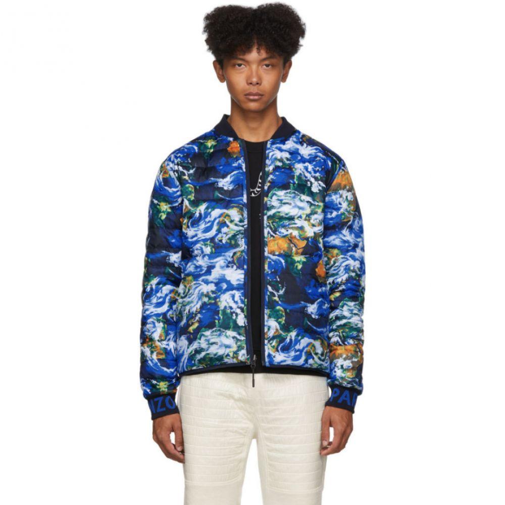 ケンゾー Kenzo メンズ ダウン・中綿ジャケット アウター【reversible navy down 'world' puffer jacket】
