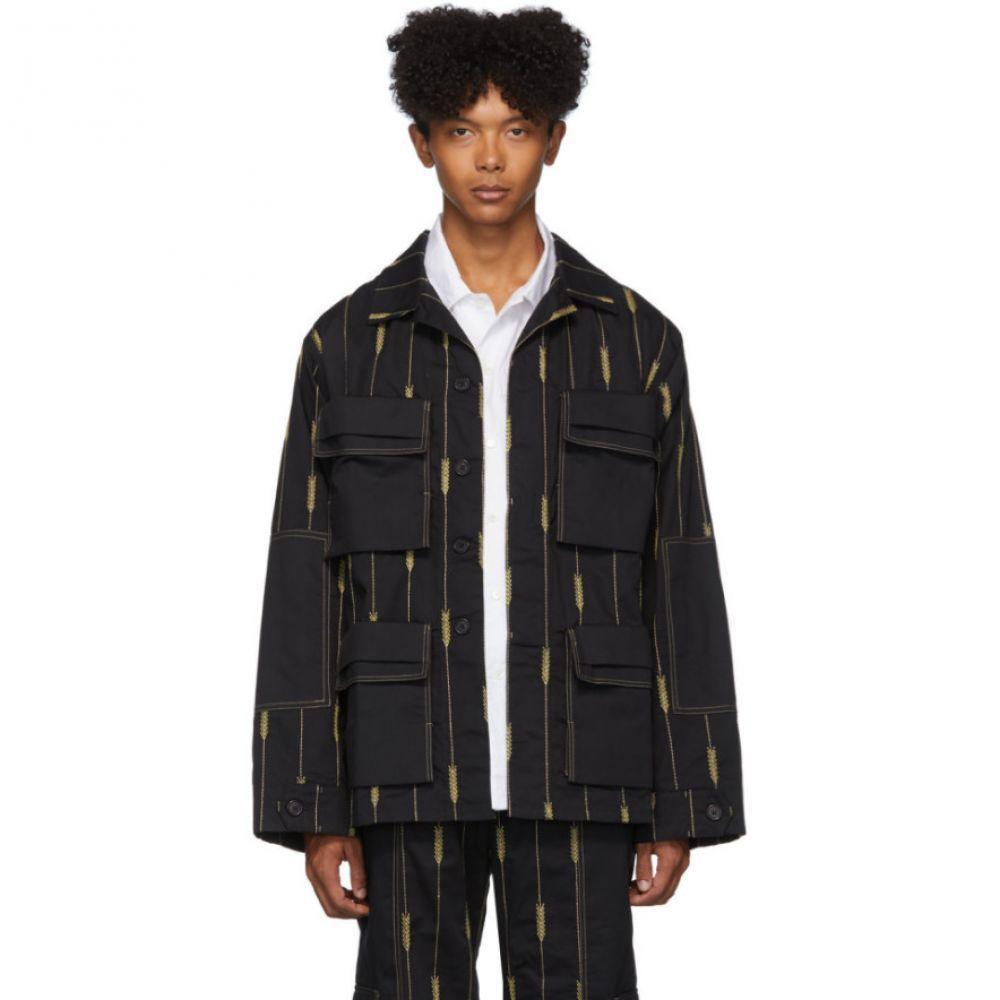 ジャックムス Jacquemus メンズ ジャケット アウター【black 'la chemise ble' jacket】