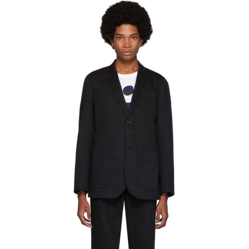 ブルーブルージャパン Blue Blue Japan メンズ スーツ・ジャケット アウター【black twill western yoke blazer】