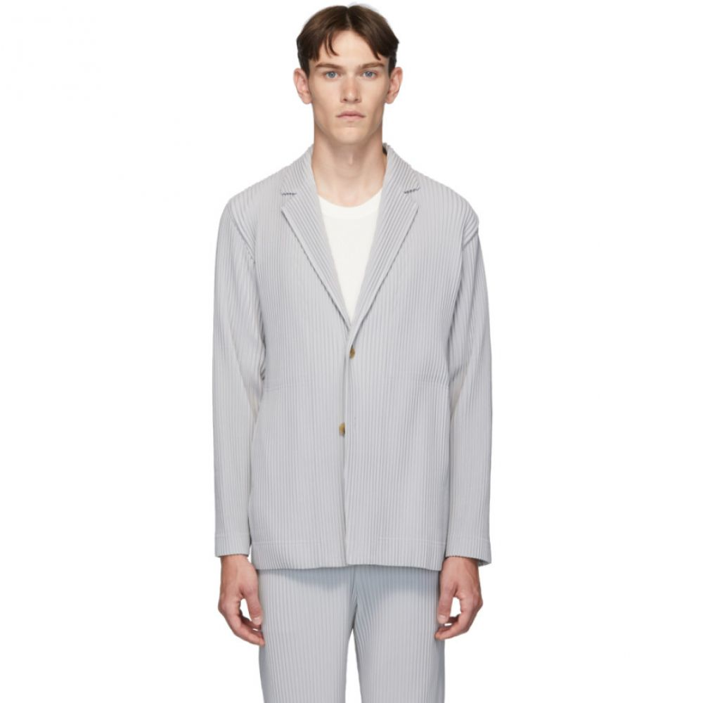 イッセイ ミヤケ Homme Plisse Issey Miyake メンズ スーツ・ジャケット アウター【grey pleated basics blazer】