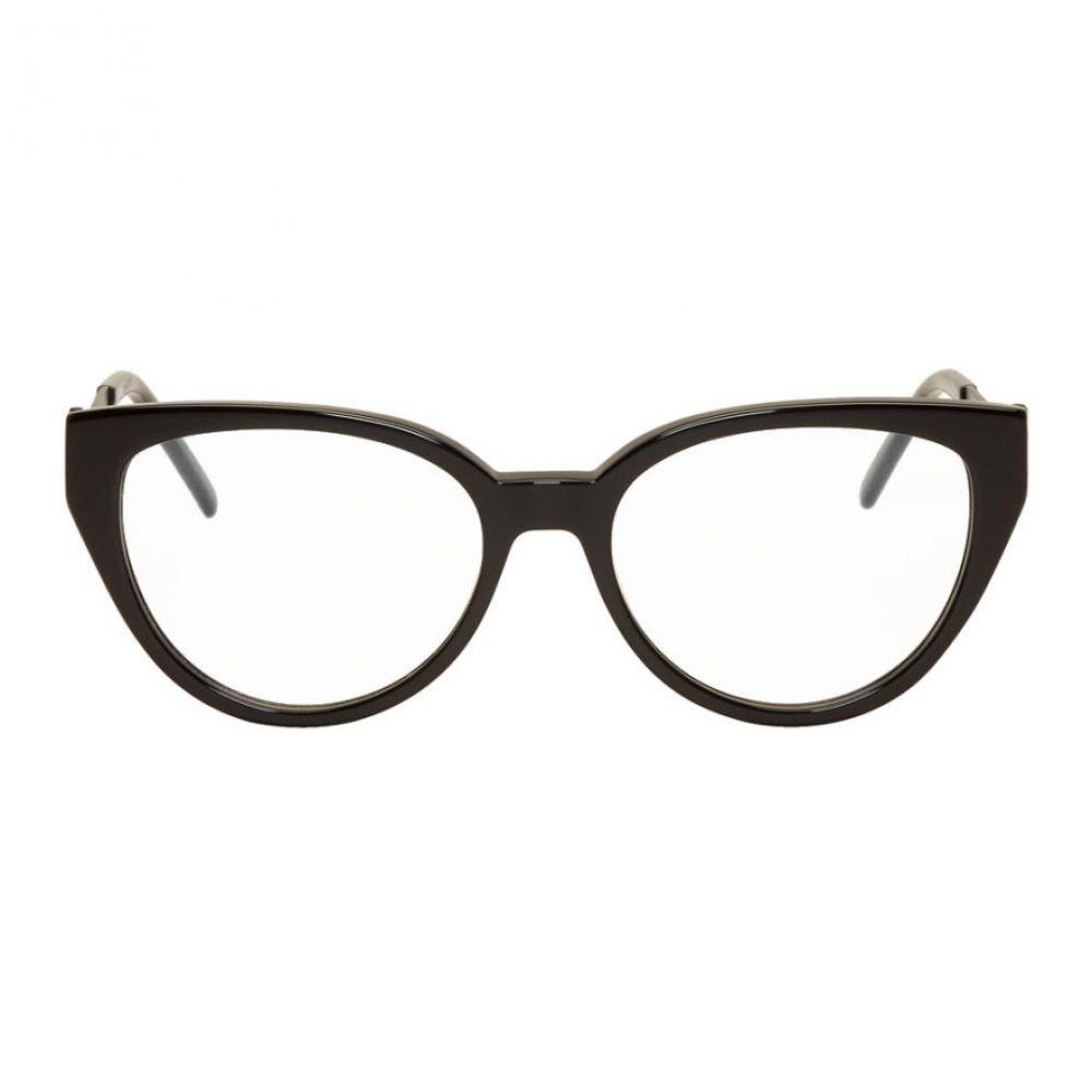 イヴ サンローラン レディース ファッション小物 メガネ・サングラス 【サイズ交換無料】 イヴ サンローラン Saint Laurent レディース メガネ・サングラス 【Black Cat-Eye Crystal Glasses】