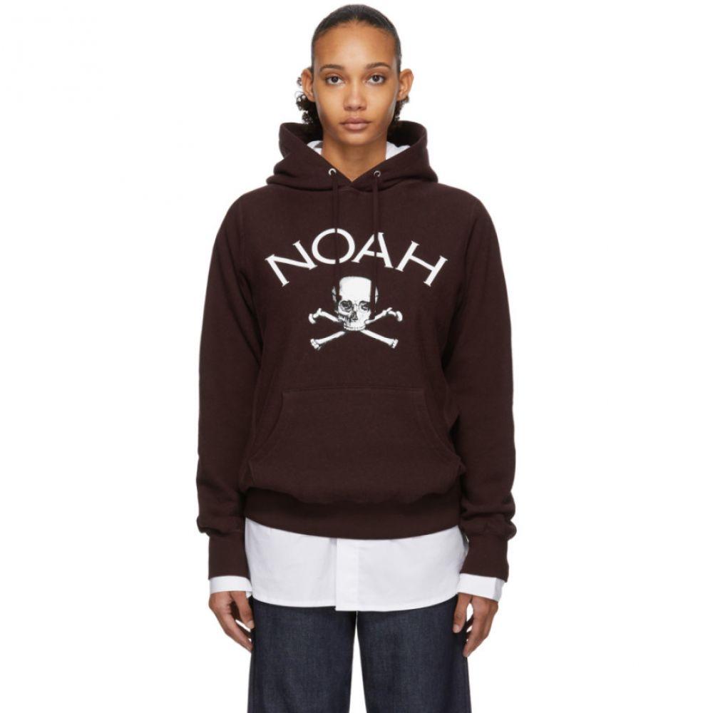 ノア レディース トップス パーカー 【サイズ交換無料】 ノア Noah NYC レディース パーカー トップス【Burgundy Jolly Roger Hoodie】
