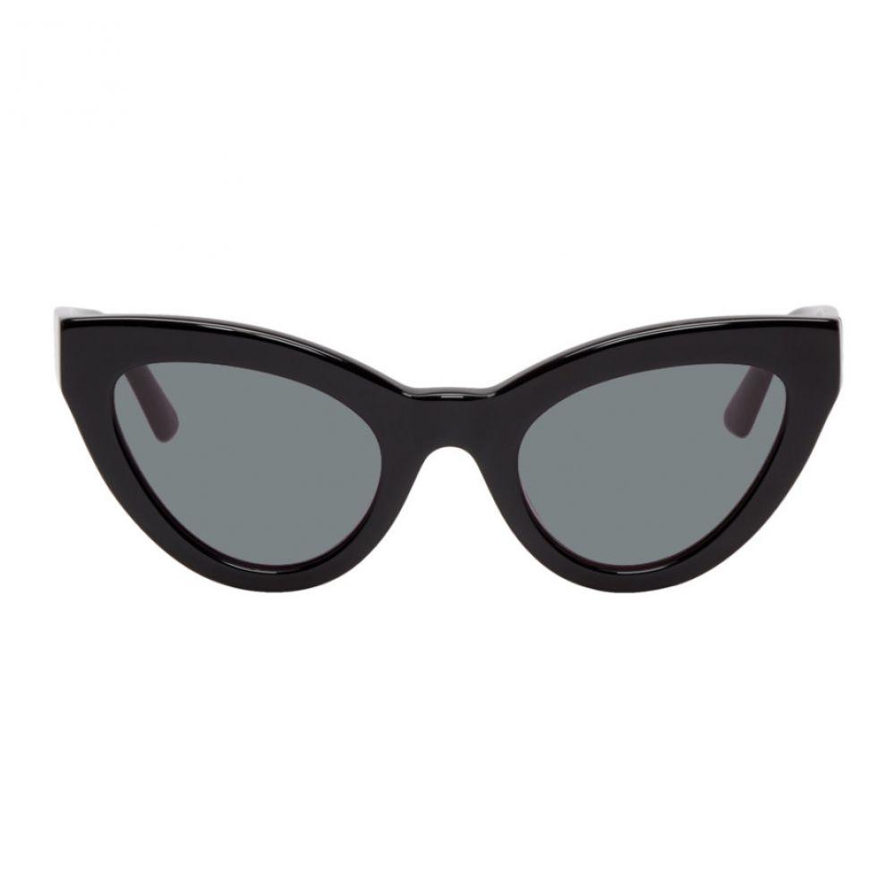 アレキサンダー マックイーン McQ Alexander McQueen レディース メガネ・サングラス キャットアイ【Black Cult Cat-Eye Sunglasses】