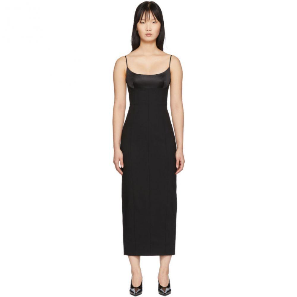 アレキサンダー ワン Alexander Wang レディース ワンピース キャミワンピ ワンピース・ドレス【Black Tailored Cami Long Dress】