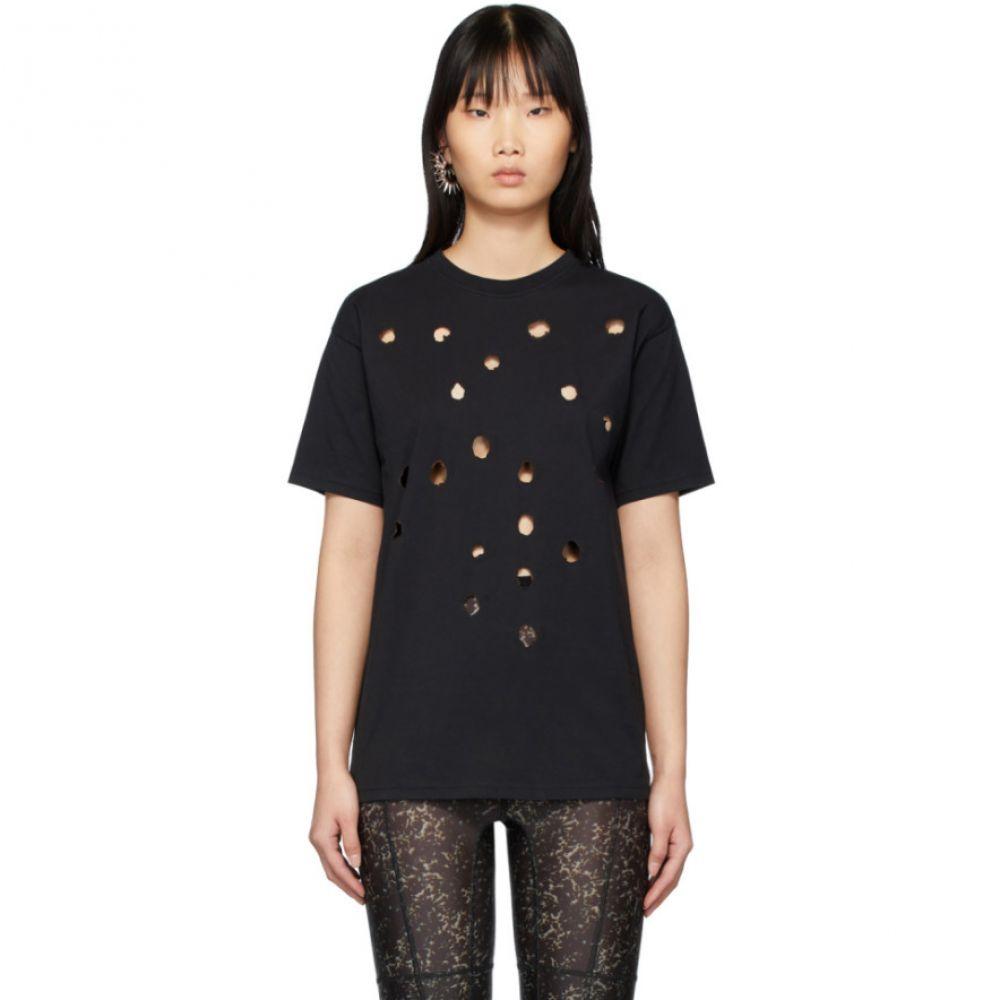 オットリンガー Ottolinger レディース Tシャツ トップス【SSENSE Exclusive Black Burned T-Shirt】