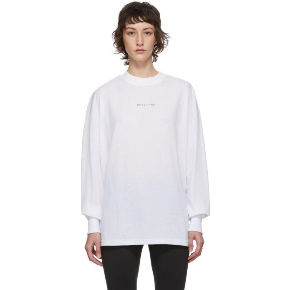 アリクス 1017 ALYX 9SM レディース 長袖Tシャツ トップス【White Visual Long Sleeve T-Shirt】