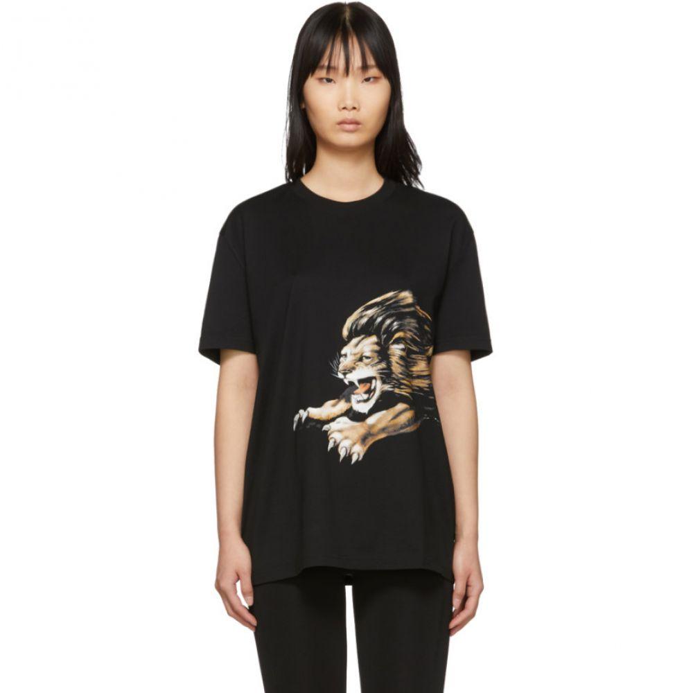 ジバンシー Givenchy レディース Tシャツ トップス【Black Leo Signature T-Shirt】
