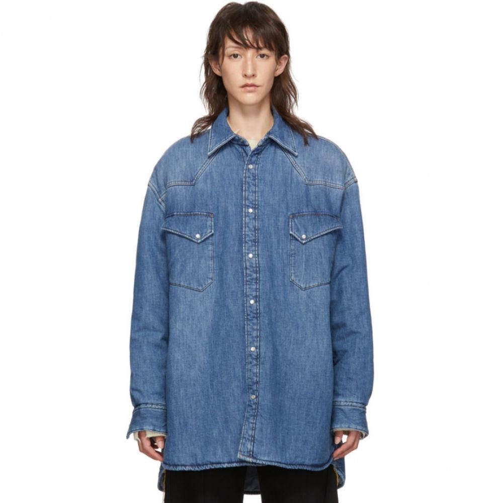 メゾン マルジェラ Maison Margiela レディース ブラウス・シャツ デニム トップス【Indigo Denim Oversized Vintage Shirt】