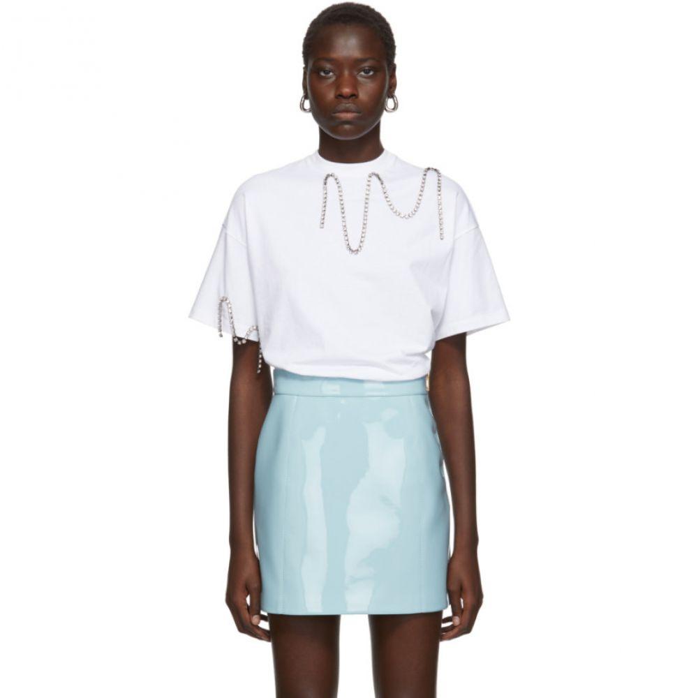 クリストファー ケイン Christopher Kane レディース Tシャツ トップス【White Crystal Squiggle Cupchain T-Shirt】