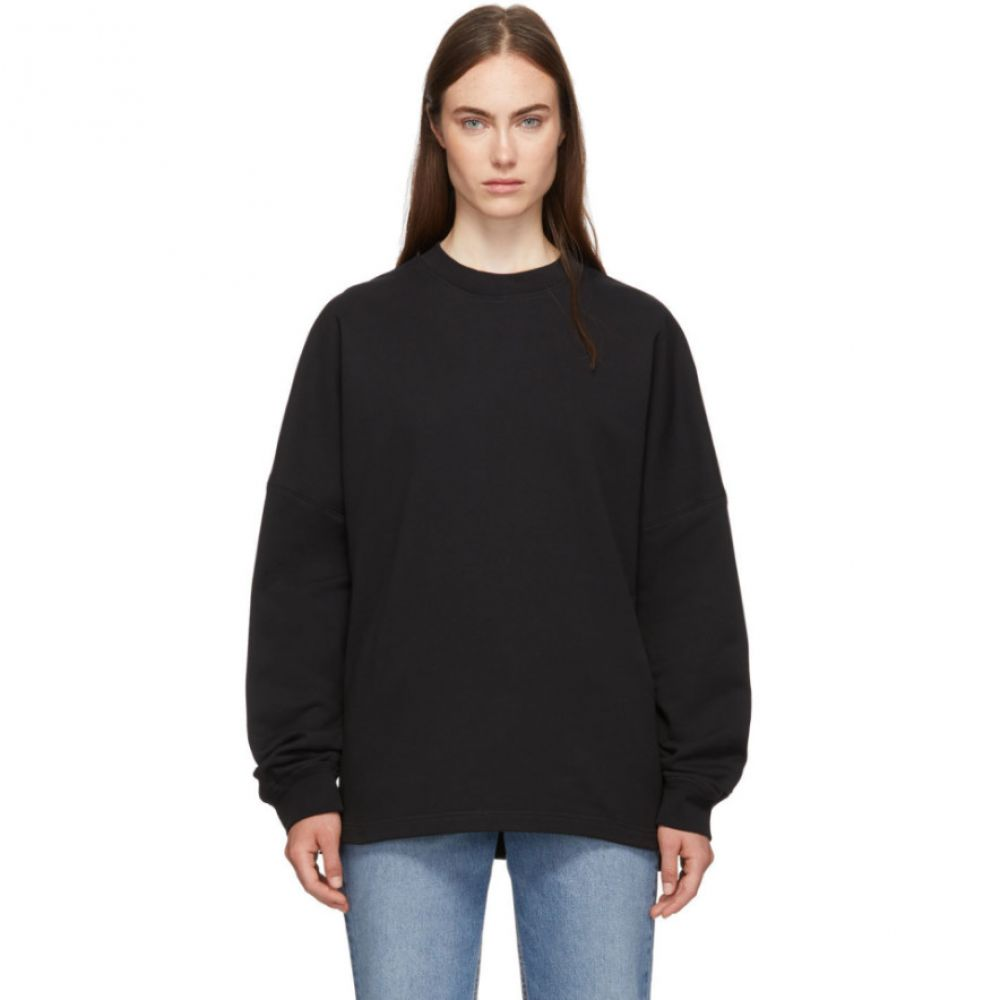 アレキサンダー ワン alexanderwang.t レディース スウェット・トレーナー トップス【Black Dry French Terry Logo Sweatshirt】