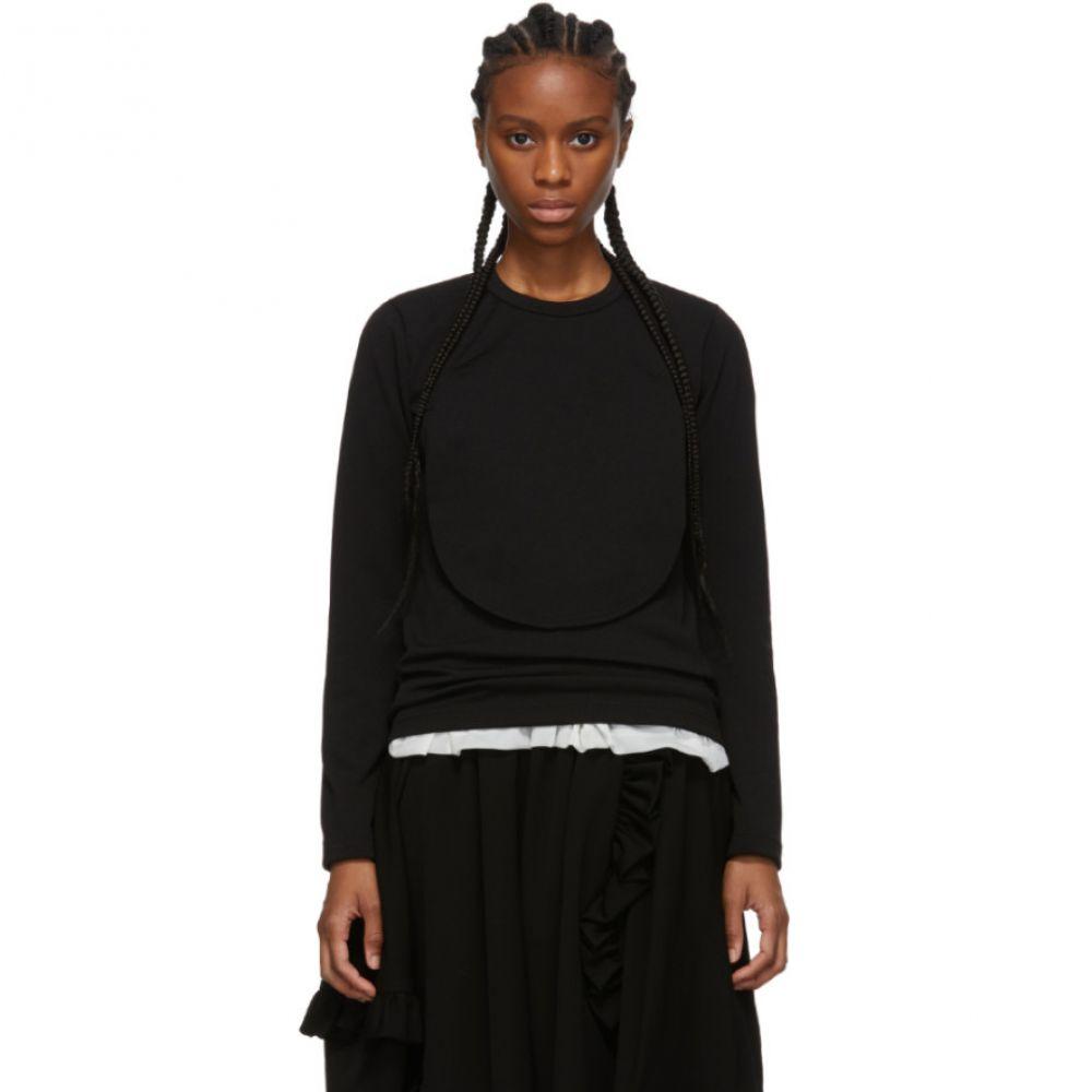 コム デ ギャルソン Comme des Garcons Comme des Garcons レディース 長袖Tシャツ トップス【Black Circle Cut-Out Long Sleeve T-Shirt】