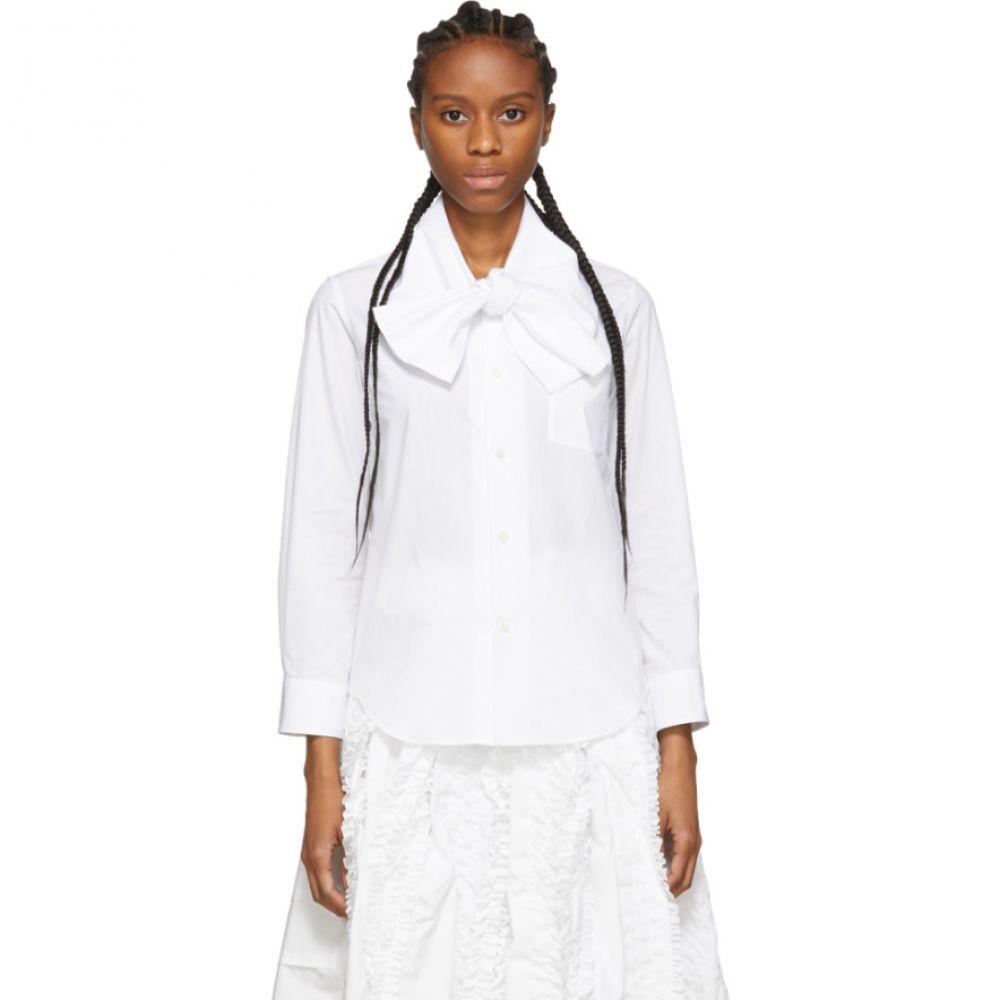 コム デ ギャルソン Tricot Comme des Garcons レディース ブラウス・シャツ トップス【White Bow Collar Shirt】