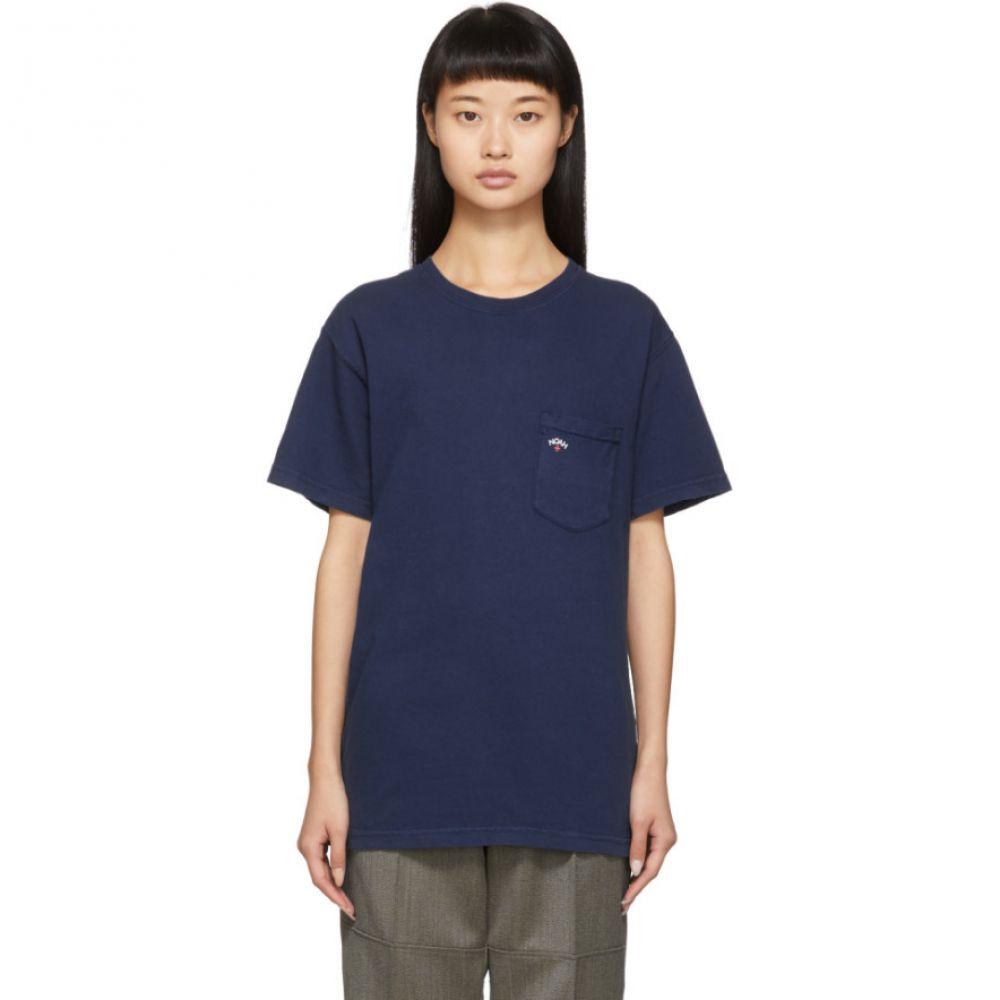 ノア Noah NYC レディース Tシャツ ポケット トップス【Navy Pocket T-Shirt】
