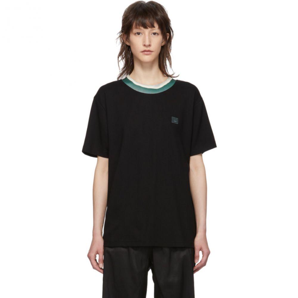 アクネ ストゥディオズ Acne Studios レディース Tシャツ トップス【Black Elsom Face T-Shirt】
