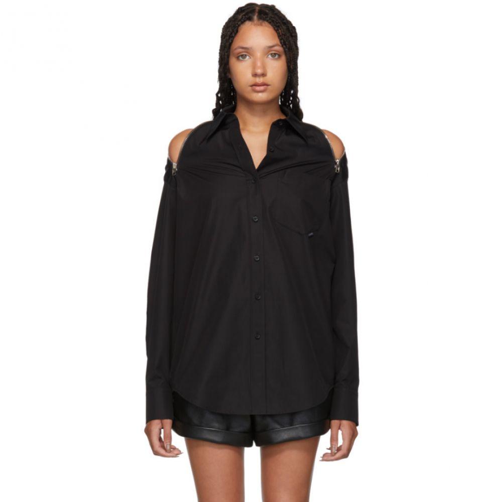 アレキサンダー ワン Alexander Wang レディース ブラウス・シャツ トップス【Black Shoulder Zippers Shirt】
