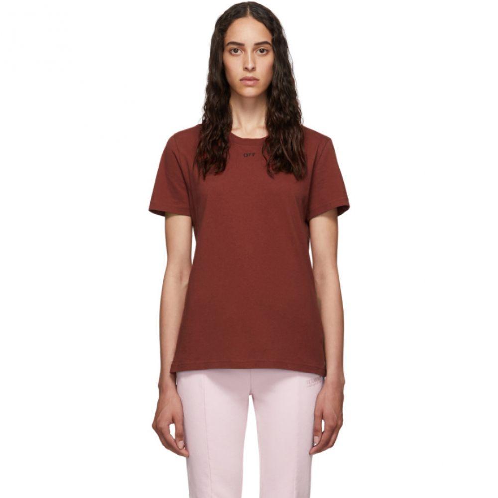 オフホワイト Off-White レディース Tシャツ トップス【Red Flowers T-Shirt】
