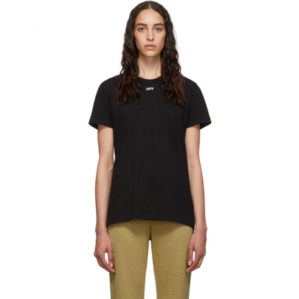 オフホワイト Off-White レディース Tシャツ トップス【Black Flowers T-Shirt】