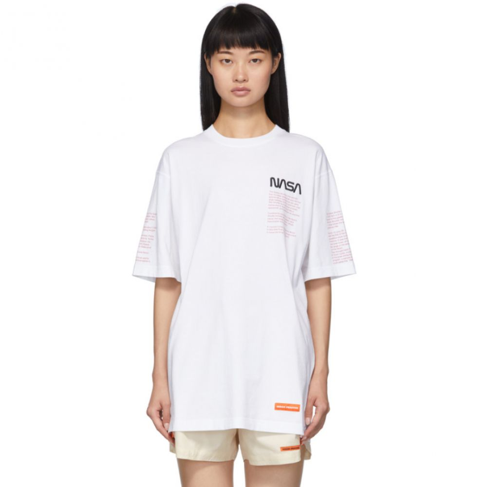 ヘロン プレストン Heron Preston レディース Tシャツ トップス【White Facts T-Shirt】
