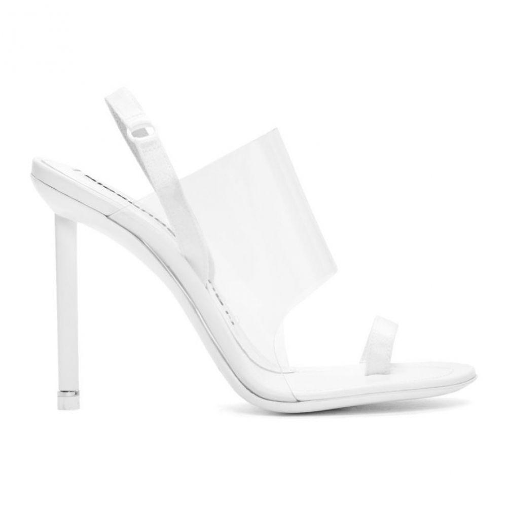 アレキサンダー ワン Alexander Wang レディース サンダル・ミュール シューズ・靴【White Kaia Heeled Sandals】