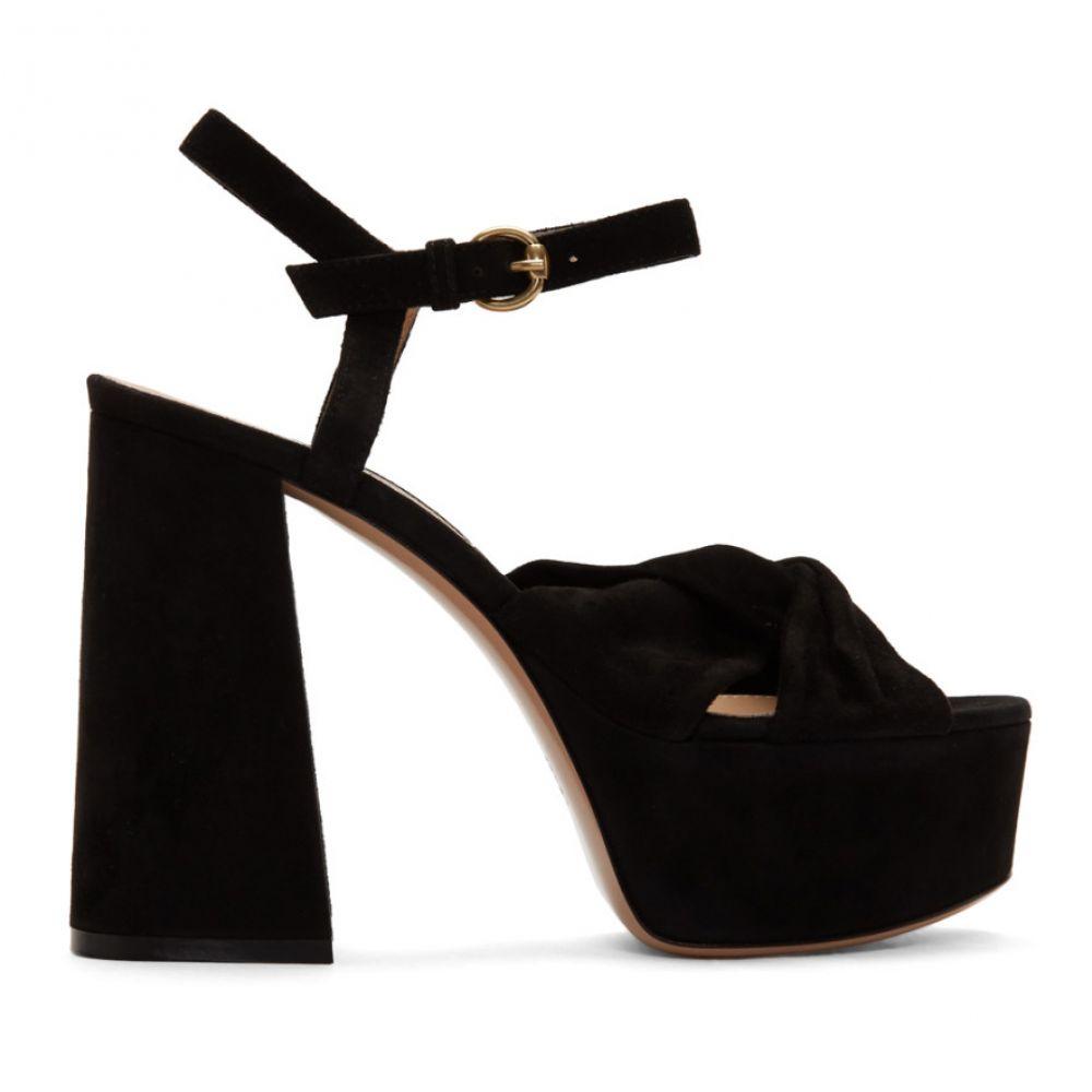 ジャンヴィト ロッシ Gianvito Rossi レディース サンダル・ミュール シューズ・靴【Black Suede Twisted 70 Heeled Sandals】