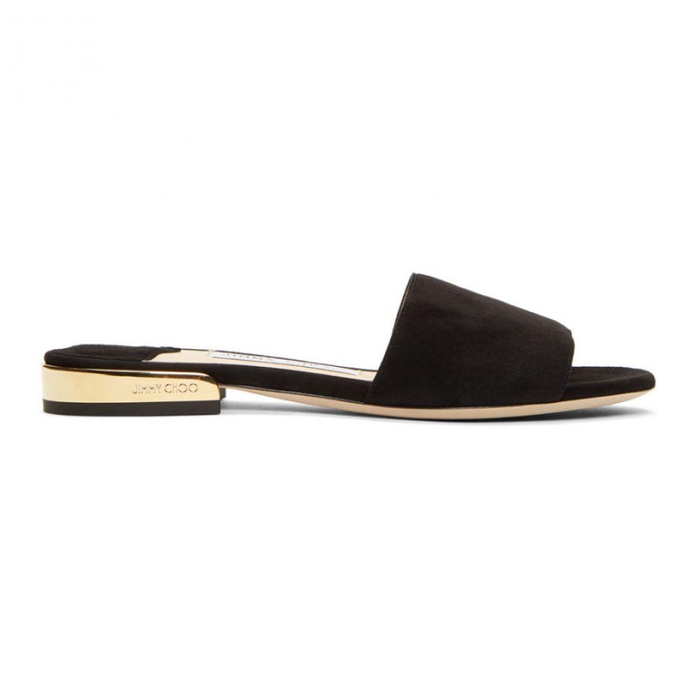 ジミー チュウ Jimmy Choo レディース サンダル・ミュール フラット シューズ・靴【Black Suede Joni Flat Sandals】