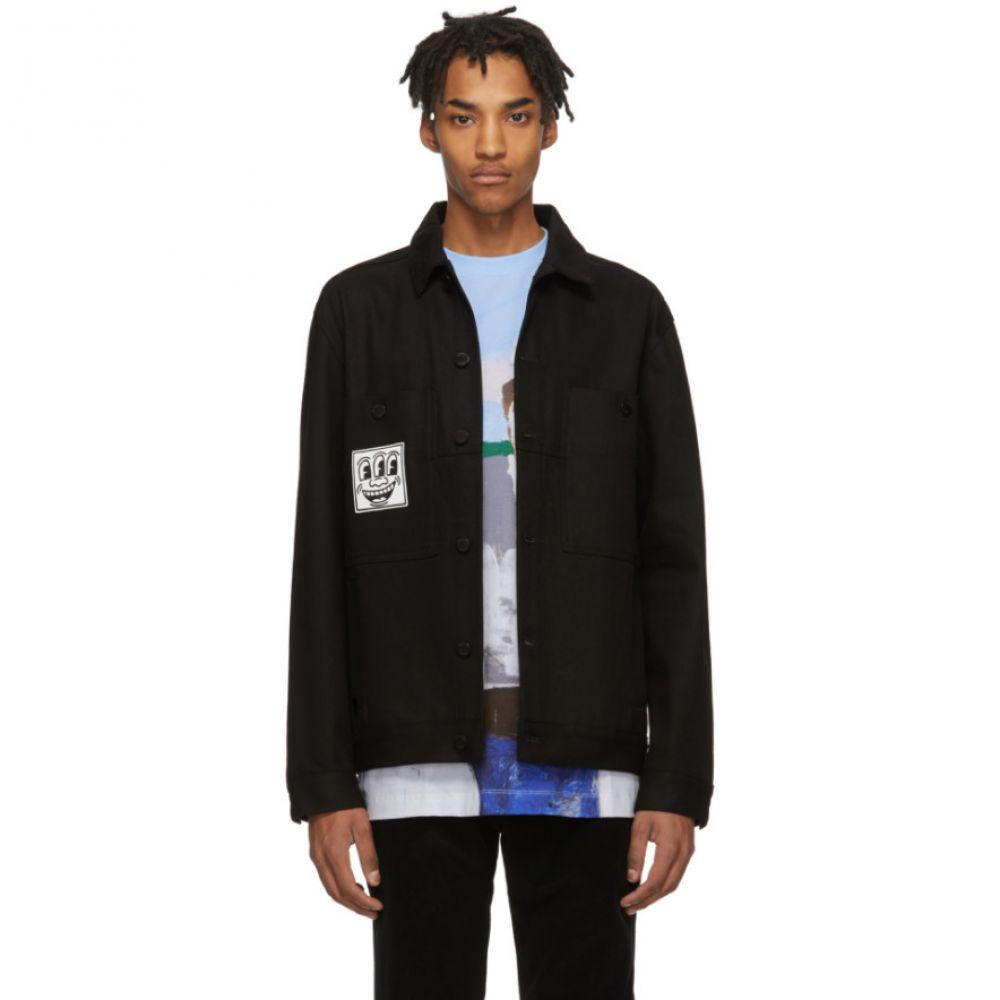 エチュード Etudes メンズ ジャケット Gジャン アウター【Black Keith Haring Edition Denim Guest Jacket】