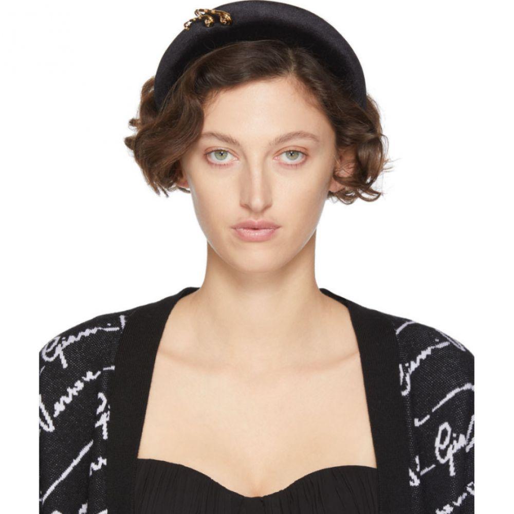 ヴェルサーチ Versace レディース ヘアアクセサリー ヘッドバンド【Black Safety Pin Headband】