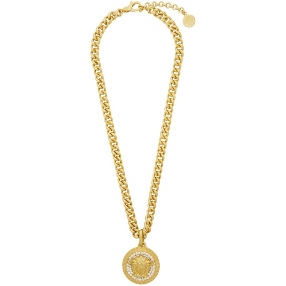 ヴェルサーチ Versace レディース ネックレス ジュエリー・アクセサリー【Gold Crystal Medusa Necklace】