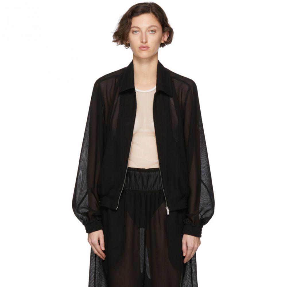 ランダム アイデンティティーズ Random Identities レディース ジャケット アウター【Black Mesh Zip-Up Jacket】