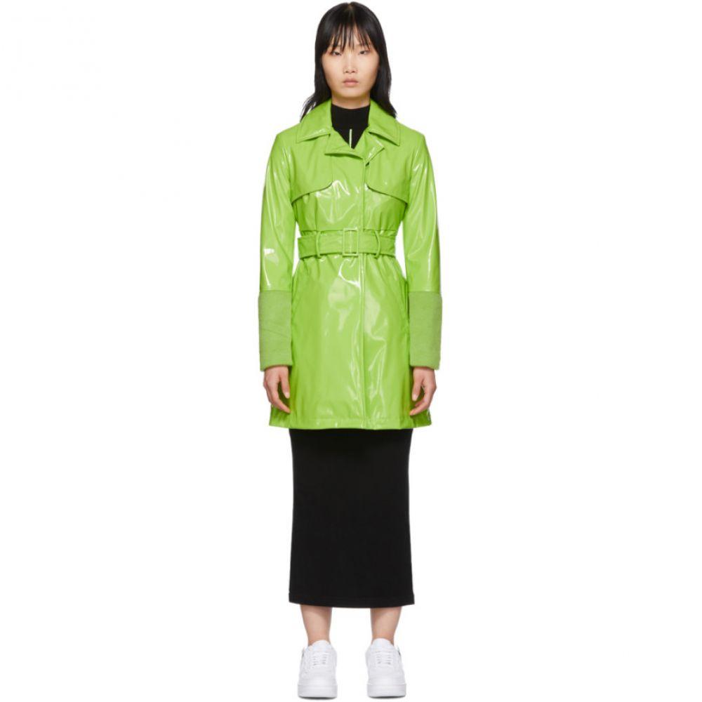 キリン Kirin レディース トレンチコート アウター【Green Short Trench Coat】