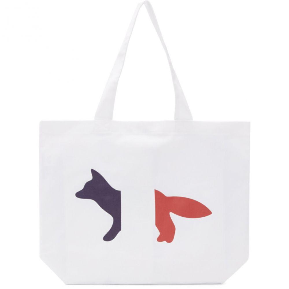 メゾン キツネ Maison Kitsune レディース トートバッグ バッグ【White Tricolor Fox Tote】