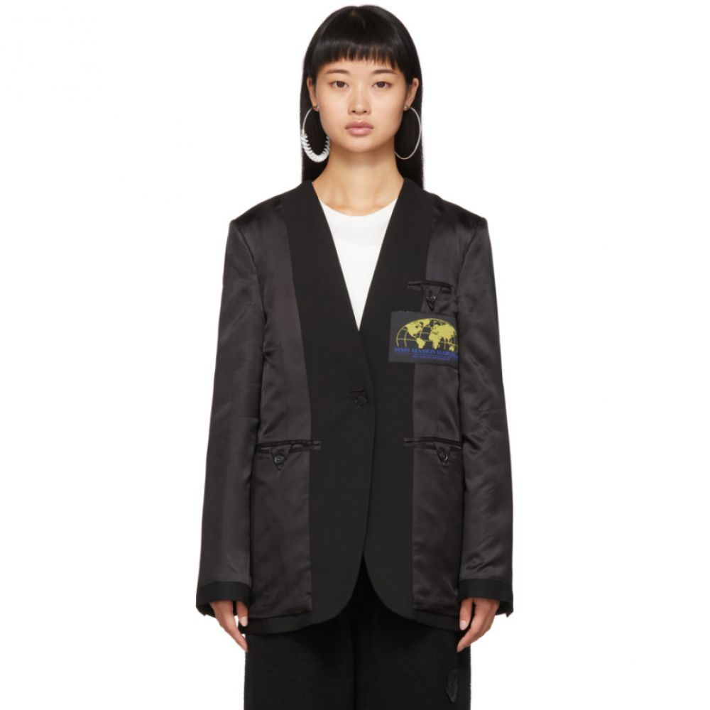 メゾン マルジェラ MM6 Maison Margiela レディース スーツ・ジャケット アウター【Black Inside-Out Blazer】