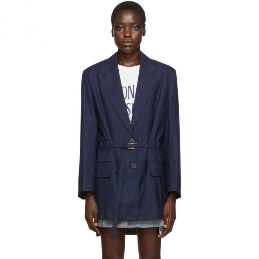 メゾン キツネ Maison Kitsune レディース スーツ・ジャケット アウター【Blue Masculine Blazer】