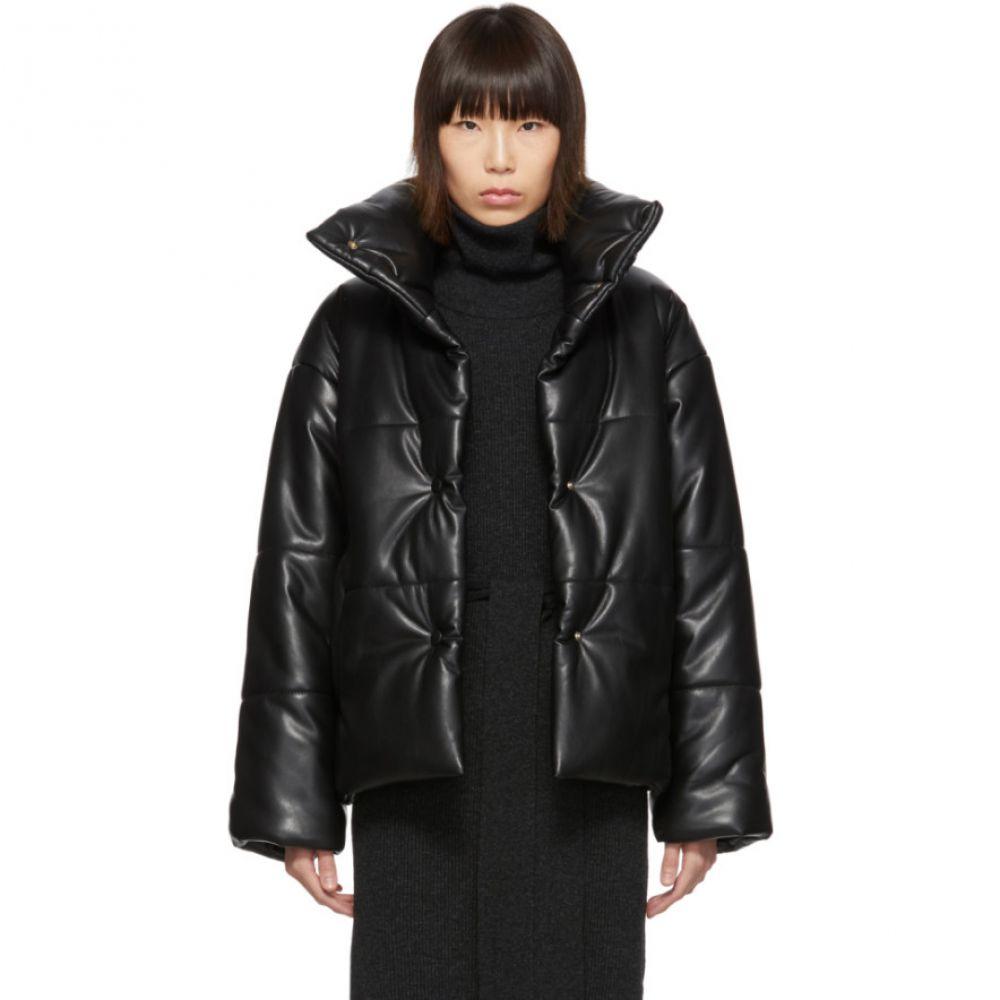 ナヌシュカ Nanushka レディース ダウン・中綿ジャケット アウター【Black Vegan Leather Hide Puffer Jacket】