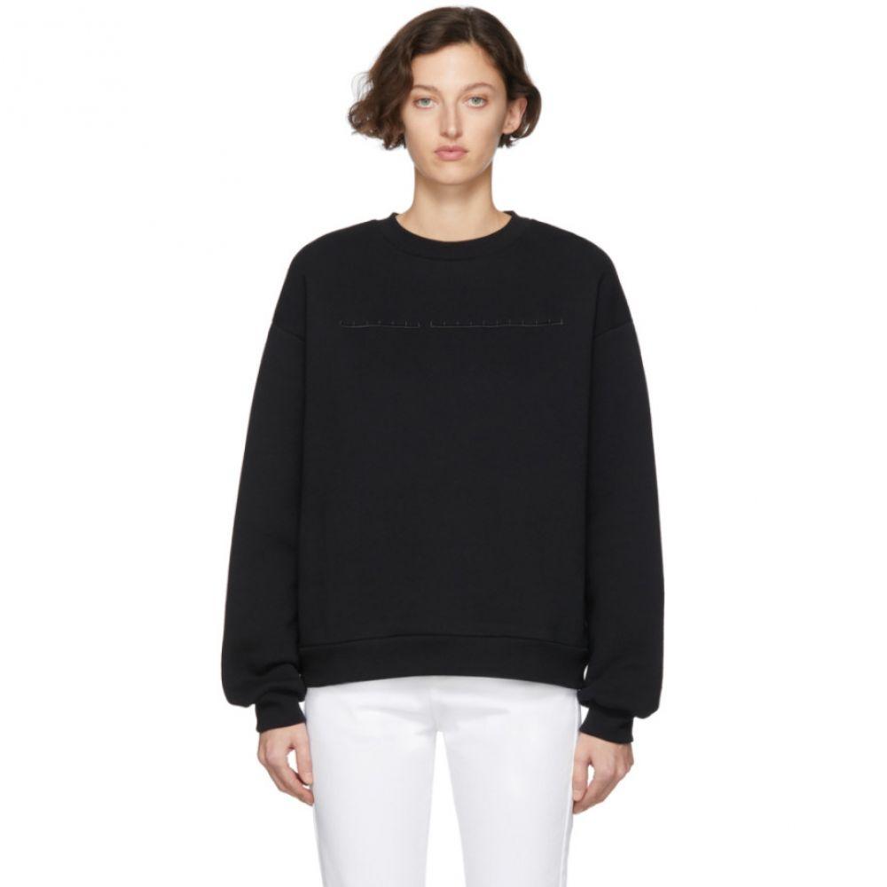 ランダム アイデンティティーズ Random Identities レディース スウェット・トレーナー トップス【Black Cut-Out Sweatshirt】