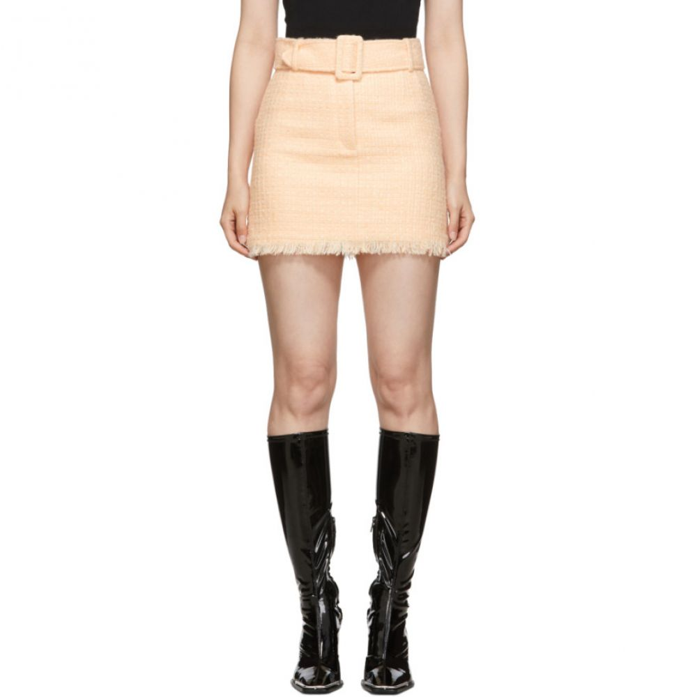 アレキサンダー ワン Alexander Wang レディース ミニスカート スカート【Pink Tweed Belted Miniskirt】