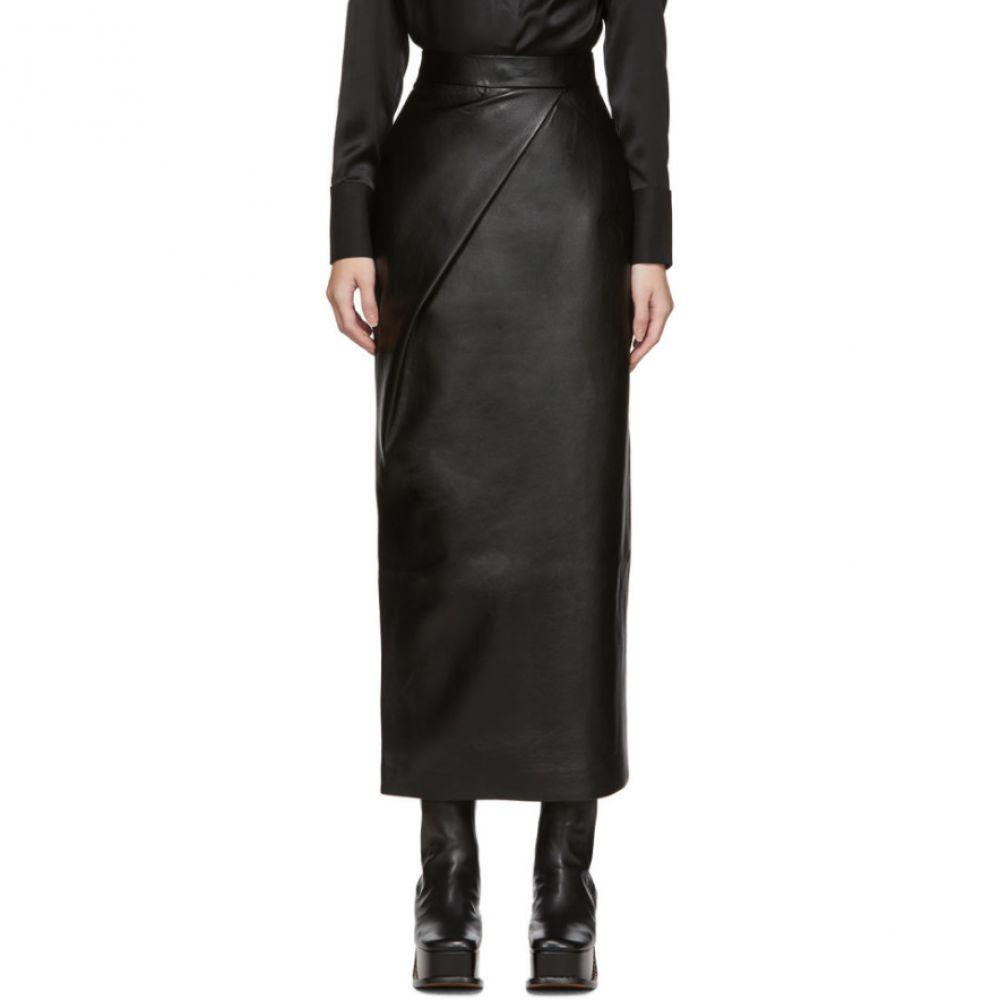 マテリエルティビリシ Materiel Tbilisi レディース スカート 【Black Faux-Leather Skirt】