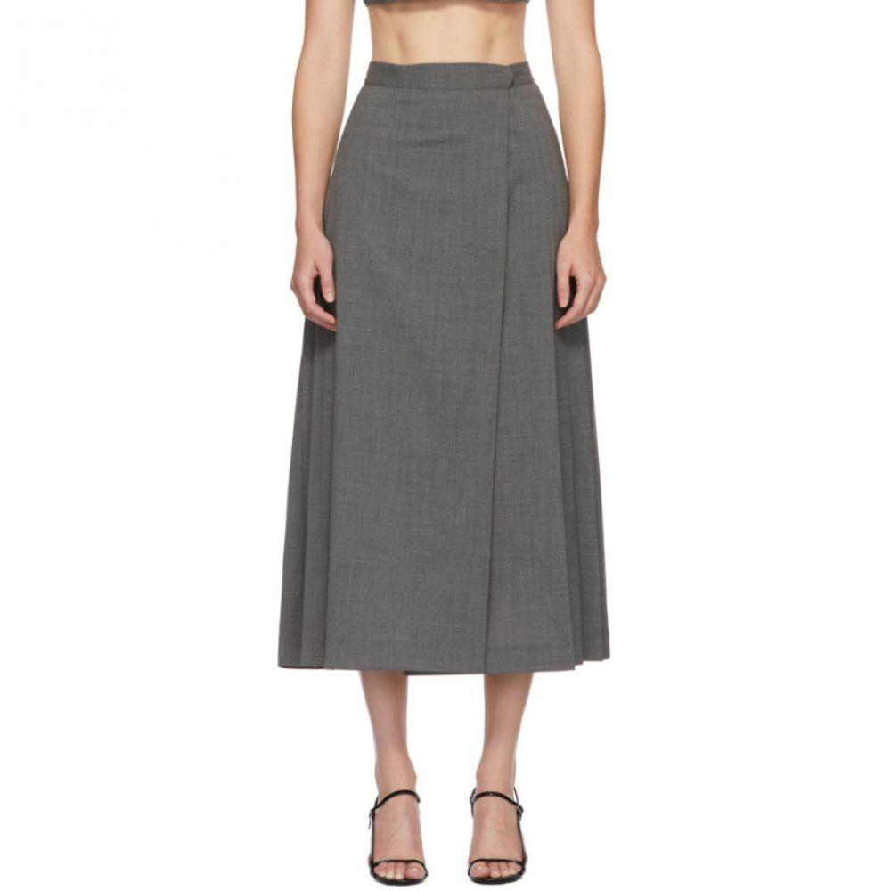 マリアム ナッシアー ザデー Maryam Nassir Zadeh レディース ひざ丈スカート スカート【Grey Umbra Mid-Length Skirt】