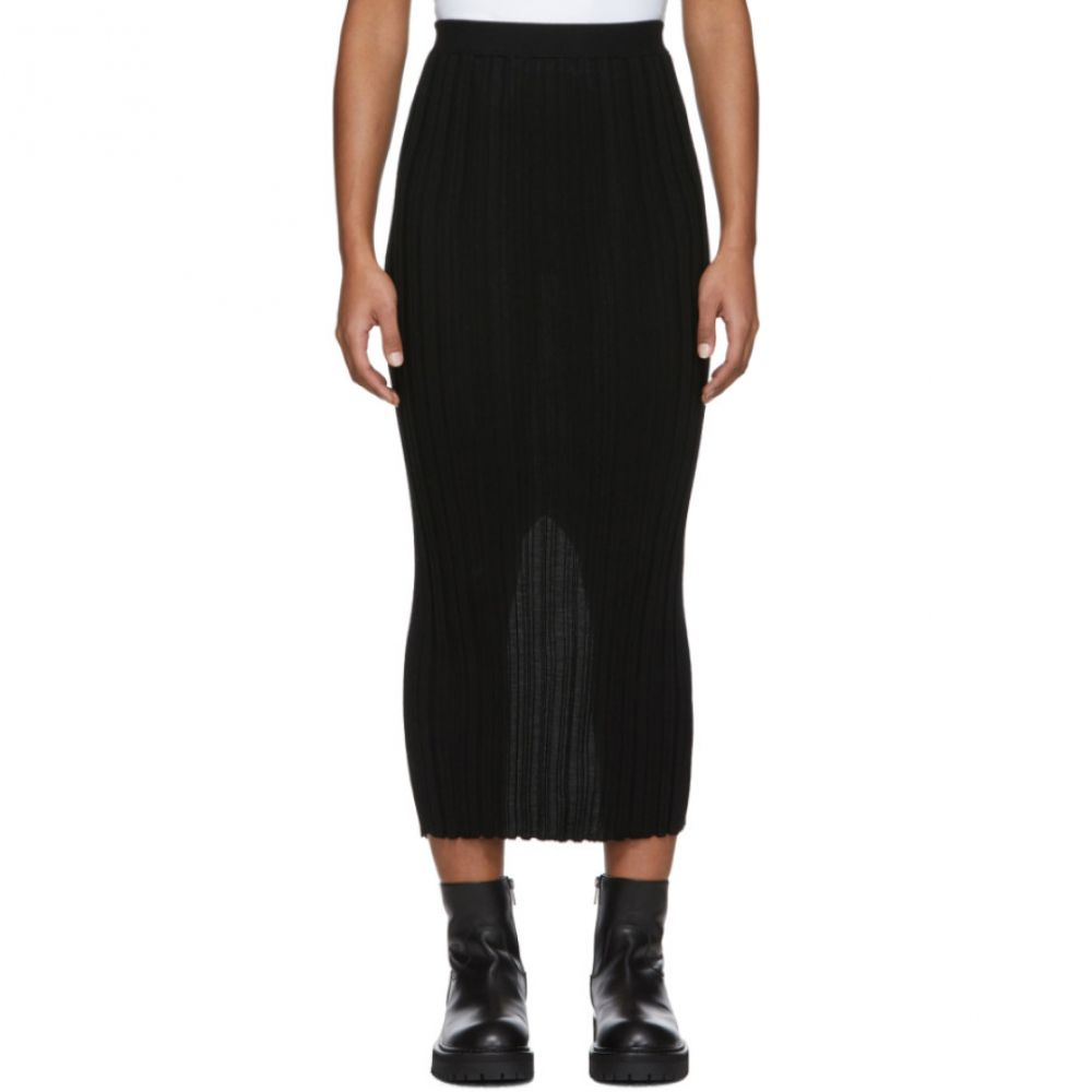 ヘルムート ラング Helmut Lang レディース スカート 【Black Wool Rib Skirt】