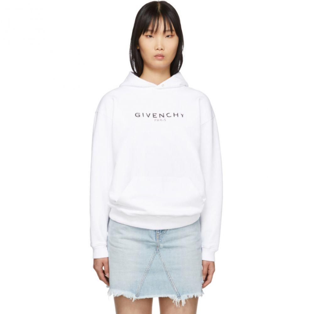 ジバンシー レディース トップス パーカー 【サイズ交換無料】 ジバンシー Givenchy レディース パーカー トップス【White Vintage Hoodie】